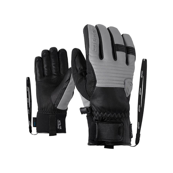 Ziener Gloves & Mittens Frost Grey / Size 9 Ziener Gerix AS Mens Ski Glove 4059749787662 191013