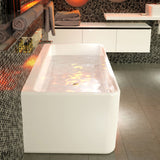 Cube 1800 Back to Wall Freestanding Bath