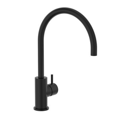 Round Pin Sink Mixer - Matte Black
