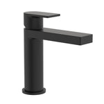 Round Square Basin Mixer - Matte Black