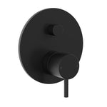 Round Pin Wall Mixer with Diverter - Matte Black