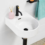 Round Wall Basin 350mm (1 Tap Hole)