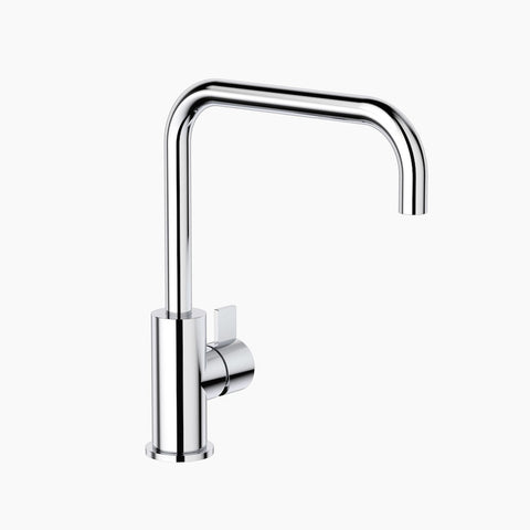 Round Blade Sink Mixer - Chrome
