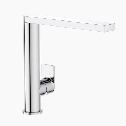 Round Square Sink Mixer - Chrome