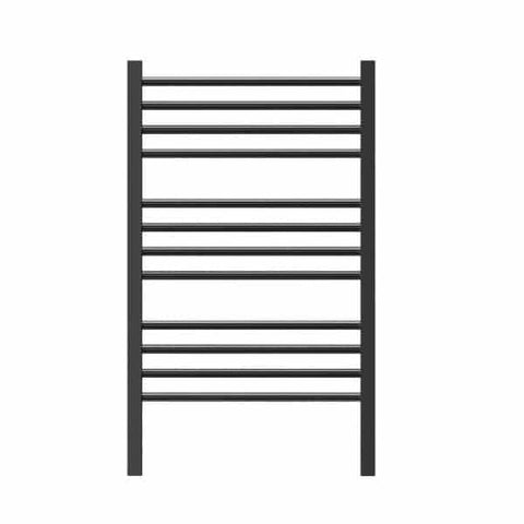 P62SBKR Jeeves Matt Black Ladder Heated Towel Rail