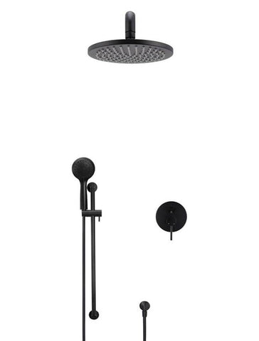 Round Curved Shower, Column And Diverter Mixer