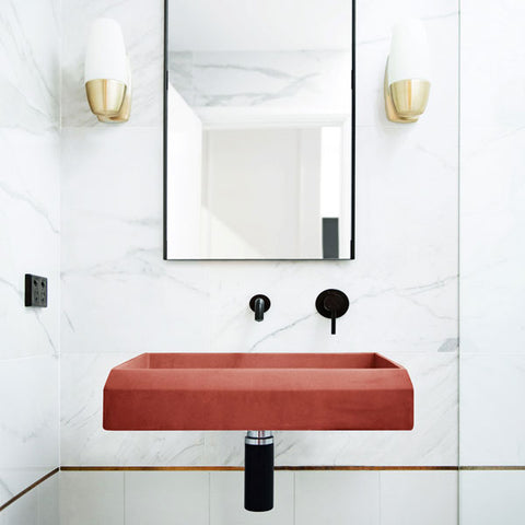 Prism Basin Rectangle — Wall Hung