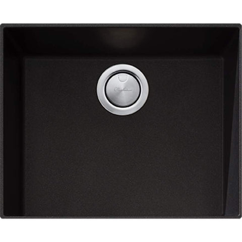 Santorini Black Large Bowl Undermount Sink