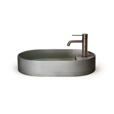 Shelf Oval Basin Overflow — Surface Mount