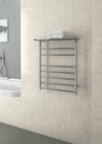 SH44M Straight Round Ladder Heated Towel Rail with Shelf