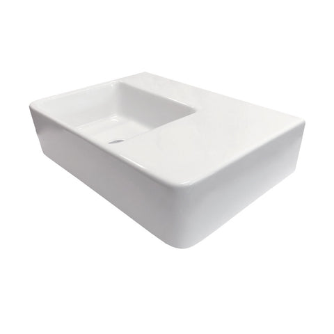 Eneo 600 x 425 Wall Hung Basin - Left hand bowl