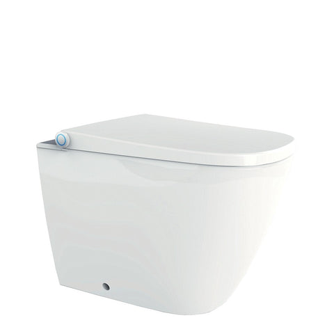 Neion SQ wall faced intelligent toilet with remote and Arcisan concealed cistern