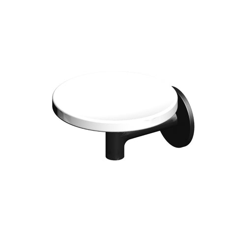 Pan Wall Mount Soap Dish - Matte Black
