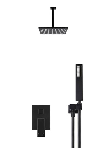 Square Ceiling Shower, Diverter Mixer And Portable Hand Shower