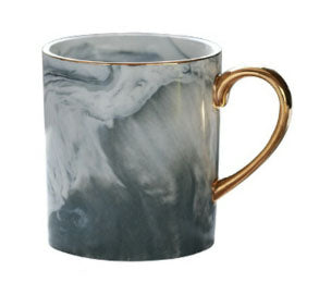 Gray Marble Mug with Gold Rim & Handle [PRE-ORDER]