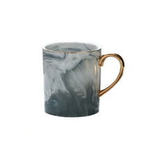Load image into Gallery viewer, Pink Marble Mug with Gold Rim & Handle