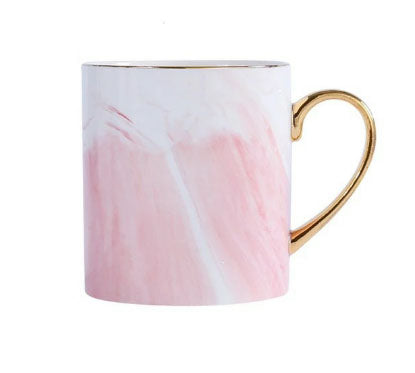 Pink Marble Mug with Gold Rim & Handle [PRE-ORDER]