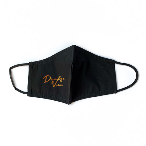 Signature Cotton Face Mask [Black/Gold]