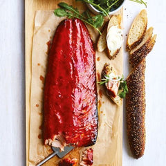 Beetroot and maple glazed salmon