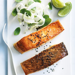 Miso orange salmon with fennel salad