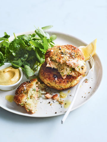 Salmon and dill fish cakes