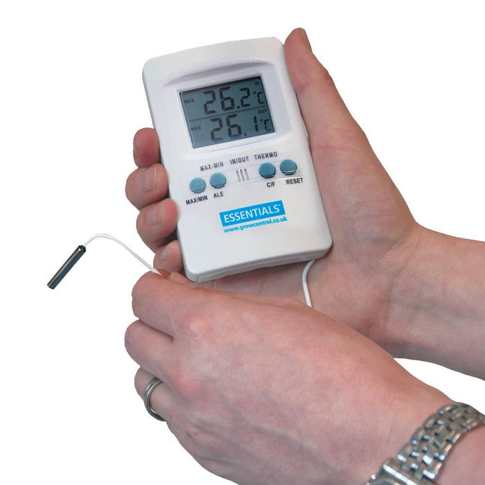 Essentials Digital 2 Way Thermometer Min Max Meter Deutschland