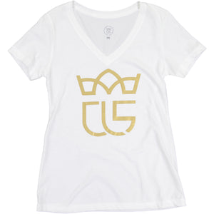 """Crowned"" Christ Life Womens' White Tee"
