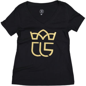 """Crowned"" Christ Life Womens' Black Tee"