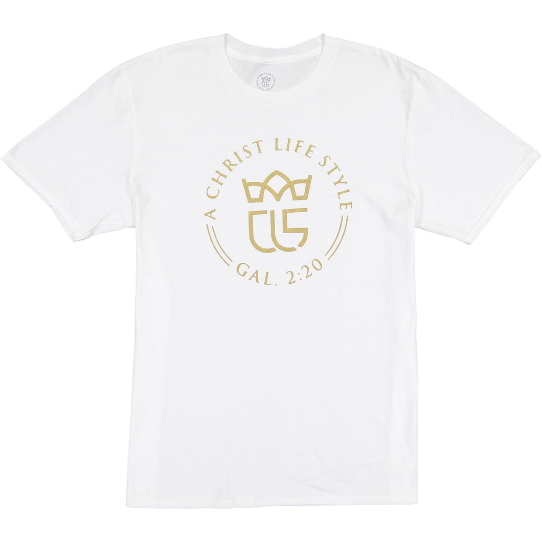 Christ Life! White Official Logo Tee