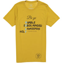 Load image into Gallery viewer, Be ye Holy! Mustard Tee
