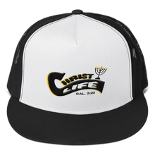 Load image into Gallery viewer, Original Christ Life - Flat Embroidered Mesh Trucker Cap