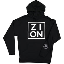 "Load image into Gallery viewer, ""ZION"" Black Hoodie"