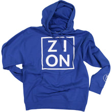 "Load image into Gallery viewer, ""ZION"" Blue Hoodie"