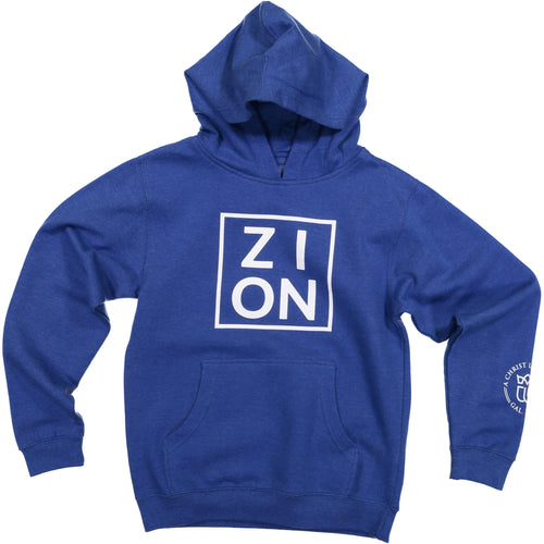 ZION Youth Blue Hoodie