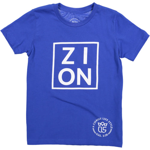 ZION Youth Blue Tee