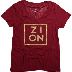 """ZION"" Womens' Tee (Gold Print)"