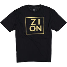 "Load image into Gallery viewer, ""ZION"" Metallic Gold Tee"