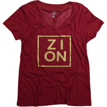 Load image into Gallery viewer, ZION Womens' Tee (Gold Print)