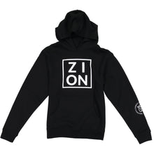 "Load image into Gallery viewer, Youth ""ZION"" Black Hoodie"