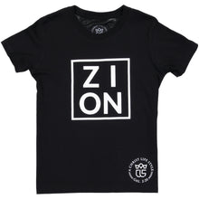 "Load image into Gallery viewer, Youth ""ZION"" Black Tee"