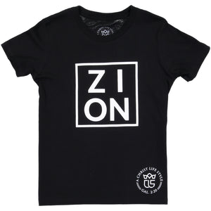 ZION Youth Black Tee