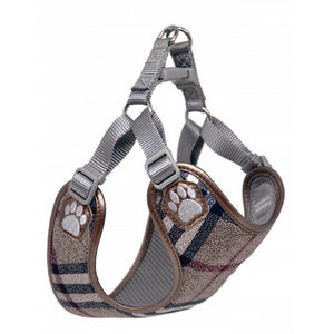 Pretty Paw Scotland Taupe Dog Harness At Brandy's
