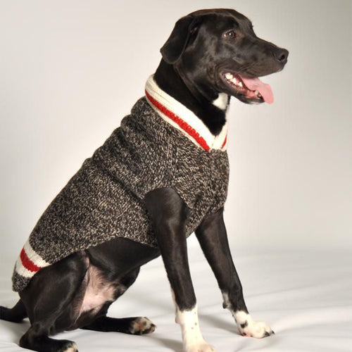 Hand Knit Wool Boyfriend Dog Sweater - Brandy's Holistic Center & Canine Grooming