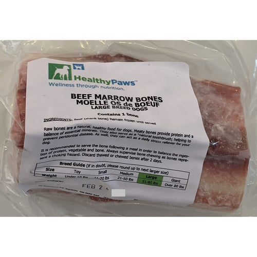 beef marrow bones from healthy paws raw bones for large dogs at brandys