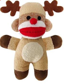Holiday Sock Monkey - Brandy's Holistic Center & Canine Grooming