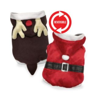 Reversible Sant/Reindeer Sweater - Brandy's Holistic Center & Canine Grooming