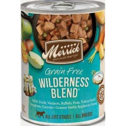 merrick's wildnerss blend canned dog food at brandy's
