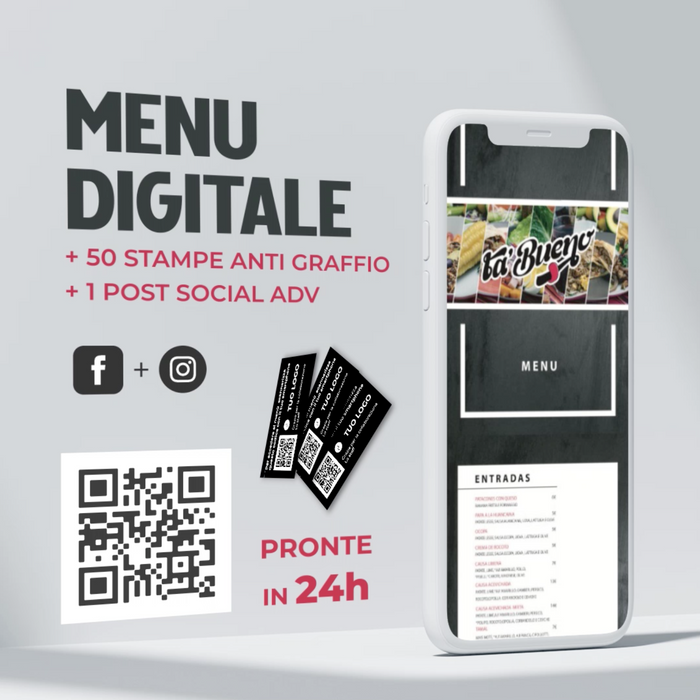 MENU' DIGITALE PER RISTORATORI