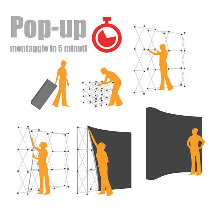 Pop-Up XXL espositore fieristico - Stampe Milano
