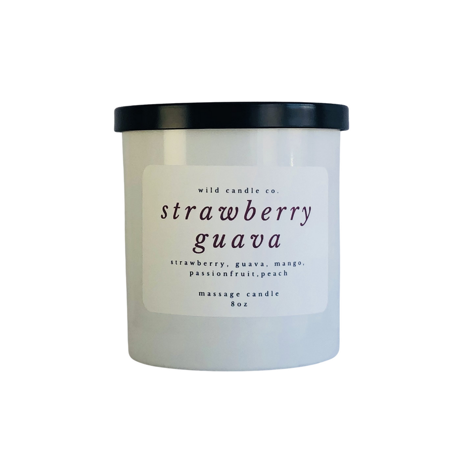 Strawberry Guava Massage Candle